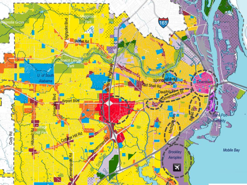 Future Land Use Plan and Major Street Plan Adopted Map for Mobile