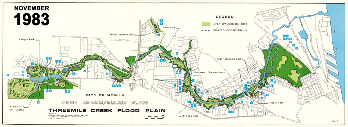 Three Mile Creek Greenway - Open Space Reuse Plan from 1983